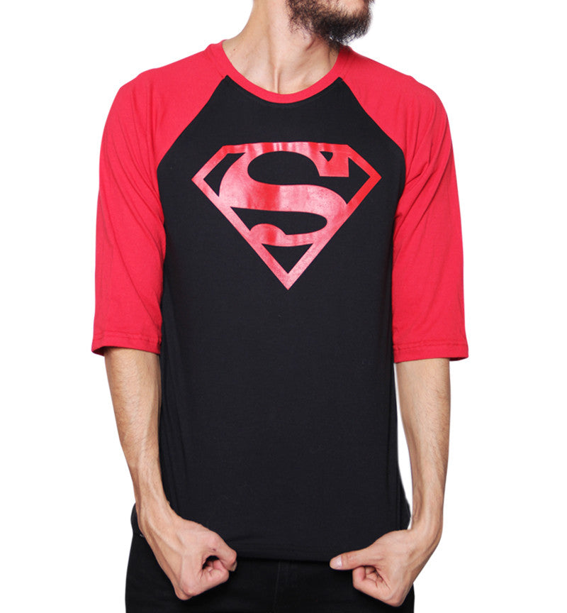 Playera Logo Superboy Manga 3/4