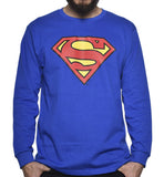 Playera Logo Superman Manga Larga