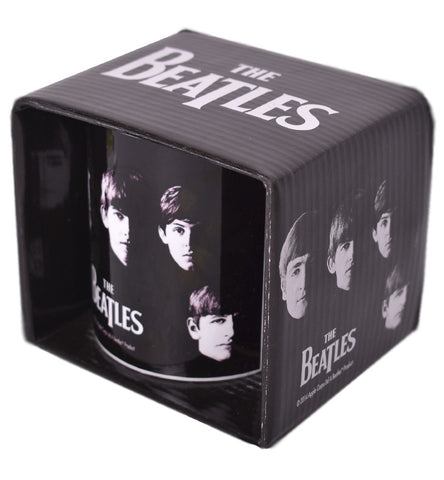 Taza Beatles Black Mug Mexico