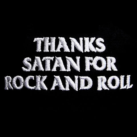 Gorra Plana Thanks Satan For Rock And Roll