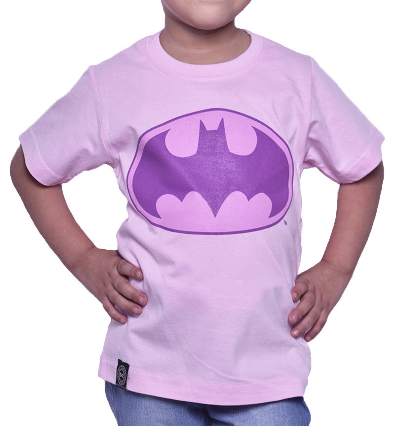 Playera Niño Logo Batman Rosa