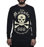 Playera Logo Monster Manga Larga