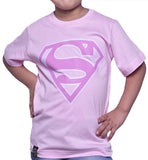 Playera Niño Logo Superman Rosa