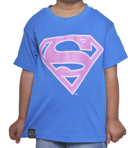 Playera Niño Logo Superman Turquesa
