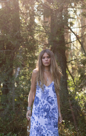 Bonnie Slip Dress - Indigo