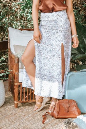 Havana Split Skirt - Shell