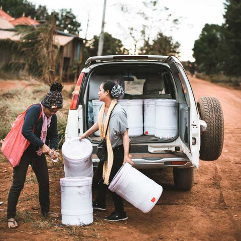 Cambodia water filter distribution