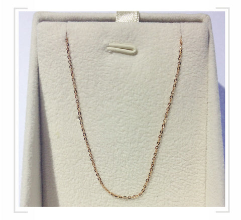 18K Rose gold chain
