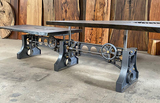 Industrial Inspired Crank Tables