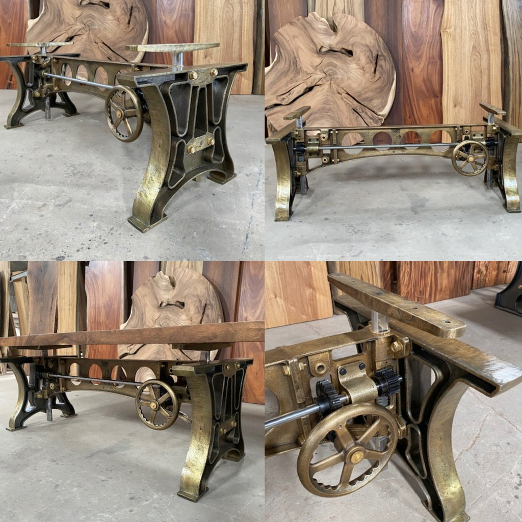 Industrial Cast Iron Crank Table Base