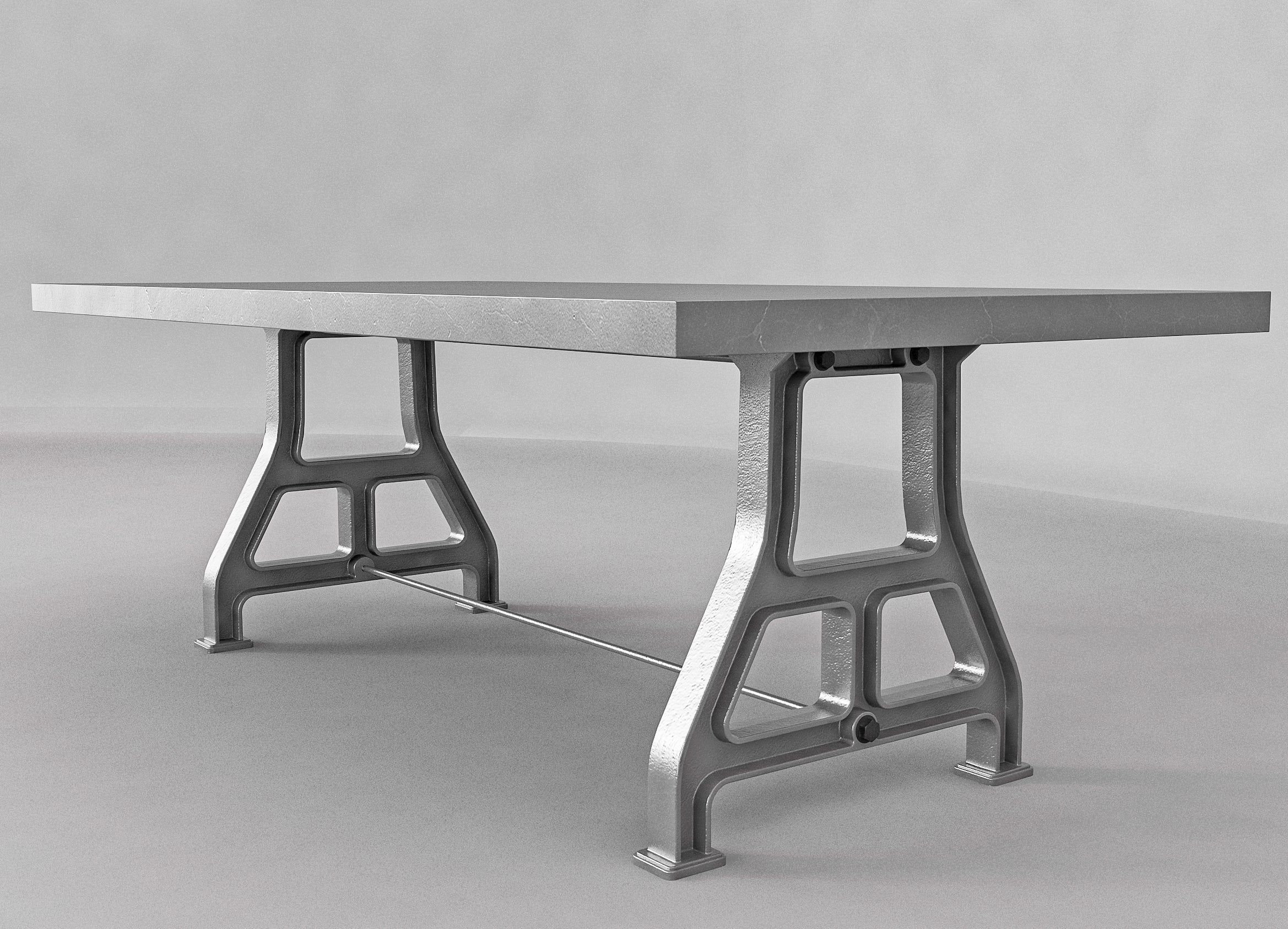 Picture of: Industrial Cast Iron Dining Table Base Style 1b Industrial Wood Metal