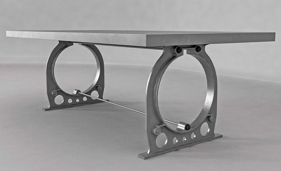 Industrial Cast Iron Dining Table Base - Style 2