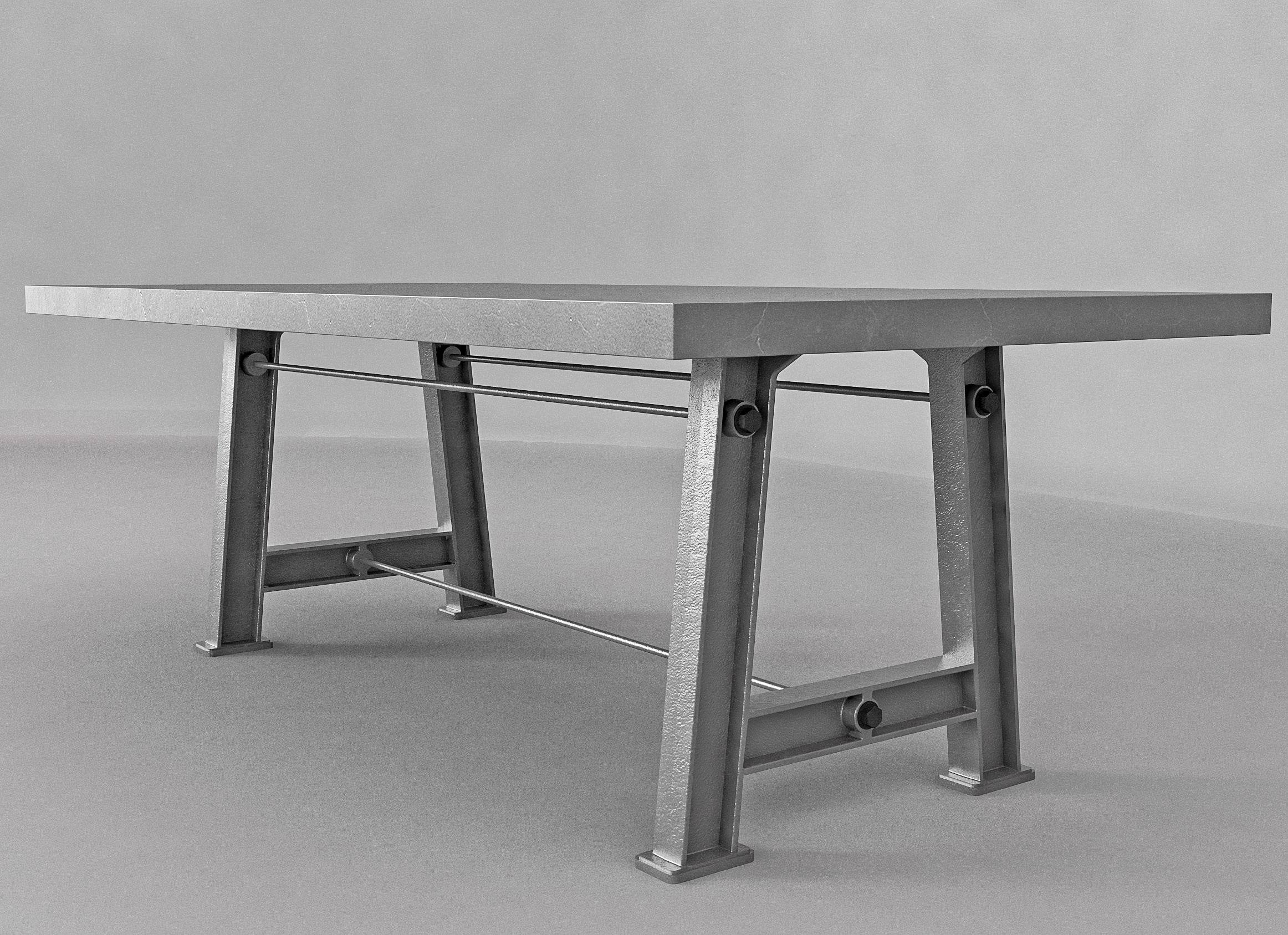 Picture of: Industrial Cast Iron Dining Table Base Style 3 Industrial Wood Metal
