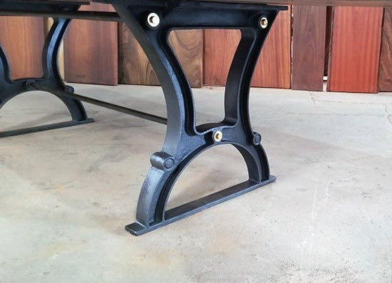 Industrial Cast Iron Dining Table Base - Style 6