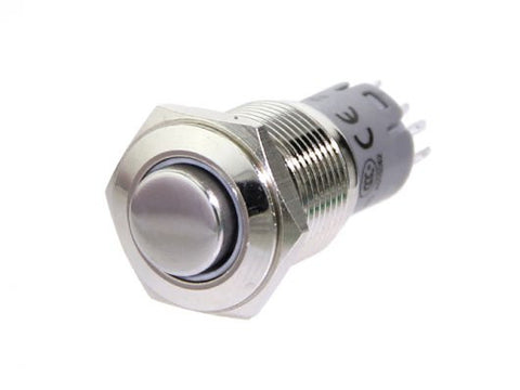 Buy Australia 16mm Momentary Metal Illuminated Push Button - White LED , Buttons & Switches - Seeed Studio, Pakronics Melbourne  in Australia - 1