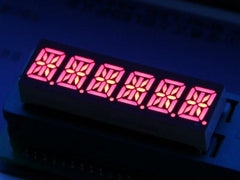 Buy Australia Six Alphanumeric 14 Segment LED - Red , LED Segment - Seeed Studio, Pakronics Melbourne  in Australia - 1