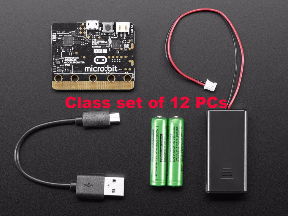 Micro:bit (Aka microbit) starter pack class set of 12 - Buy - Pakronics- Melbourne Sydney Queensland Perth  Australia - Educational kit - coding - robotics