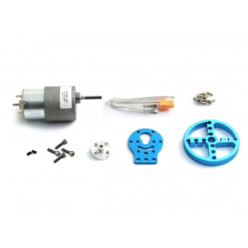 37mm DC Motor Robot Pack					-Blue
