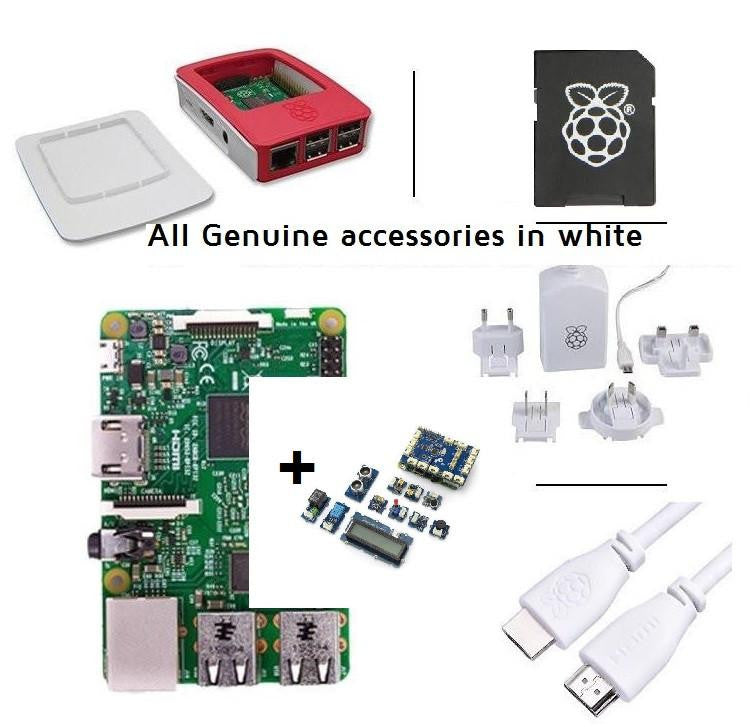 Pakronics Raspberry Pi 2 Model B Starter Kit With GrovePi+ plugable sensors kit discontinued (Replace with latest version) - Buy - Pakronics- Melbourne Sydney Queensland Perth  Australia - Educational kit - coding - robotics