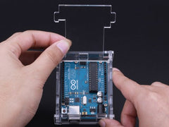 Buy Australia Arduino UNO R3 Acrylic Enclosure - Clear , Enclosures - Seeed Studio, Pakronics Melbourne  in Australia - 5