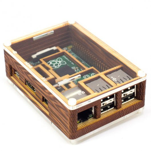 Buy Australia Pibow Timber Enclosure for Raspberry Pi Model B+ , Expansion - Seeed Studio, Pakronics Melbourne  in Australia