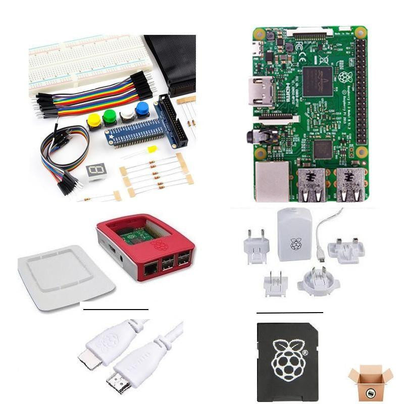 Pakronics Raspberry Pi 3 Model B PLUS starter kit with Minecraft Book's components