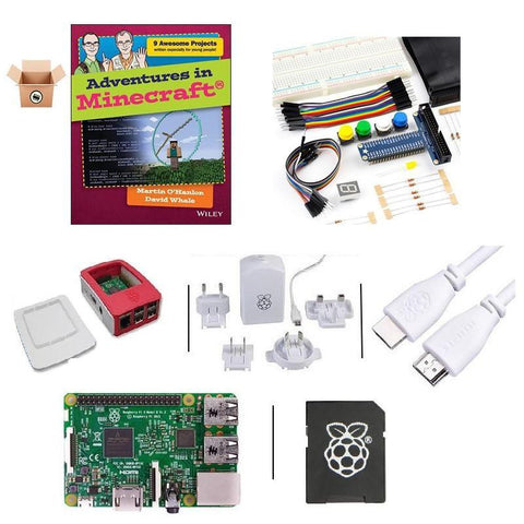 Pakronics Raspberry Pi 3 Model B starter kit with Minecraft Book's components with BOOK - Buy - Pakronics- Melbourne Sydney Queensland Perth  Australia - DIY Electronics estore