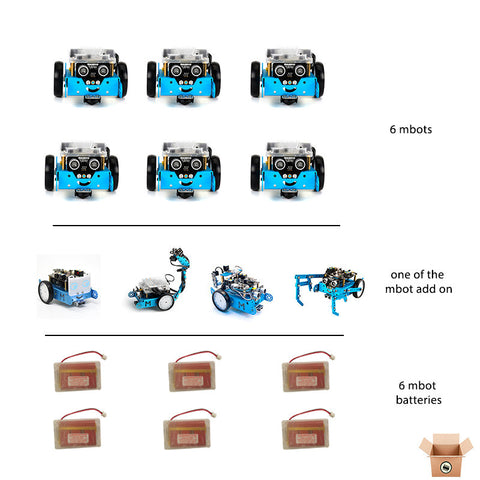 6x mBot v1.1 -Bluetooth with rechargeable battery (6 Pack) - Pakronics- Express Delivery Australia - DIY Electronics estore