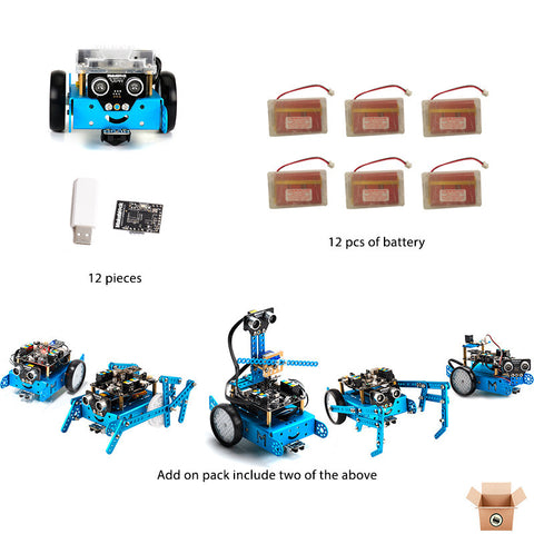 12 x mBot v1.1 -2.4Ghz with rechargable battery (12 Pack) - Pakronics- Express Delivery Australia - DIY Electronics estore