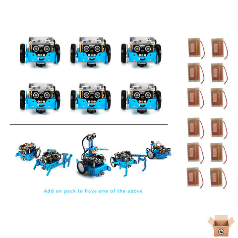 12 x mBot v1.1 -Bluetooth with rechargeable battery (12 Pack) - Buy - Pakronics®- STEM Educational kit supplier Australia- coding - robotics