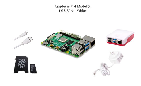 Raspberry Pi 4 Model B 1 GB Starter Kit - White