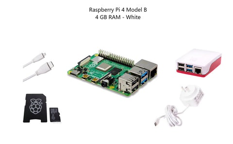 Raspberry Pi 4 Model B 4 GB Starter Kit - White