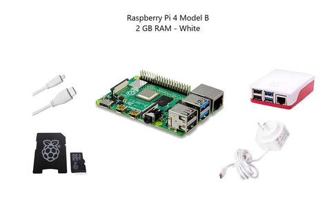 Raspberry Pi 4 Model B 2 GB Starter Kit - White