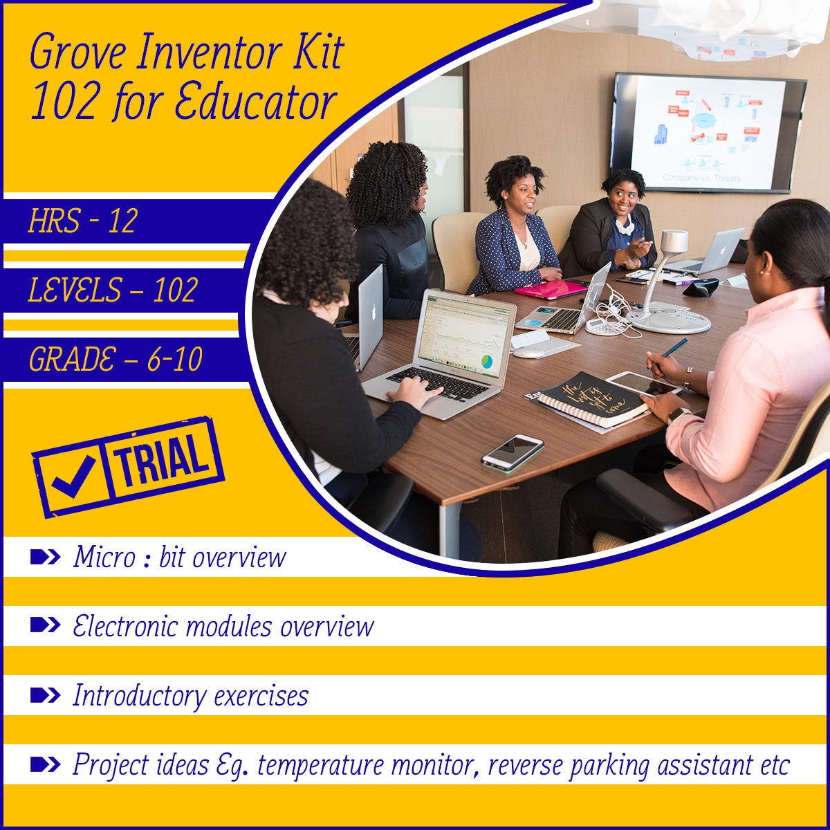[Trial] Micro:bit Grove Inventor online course 102 for educator (with curriculum mapped for Victoria)