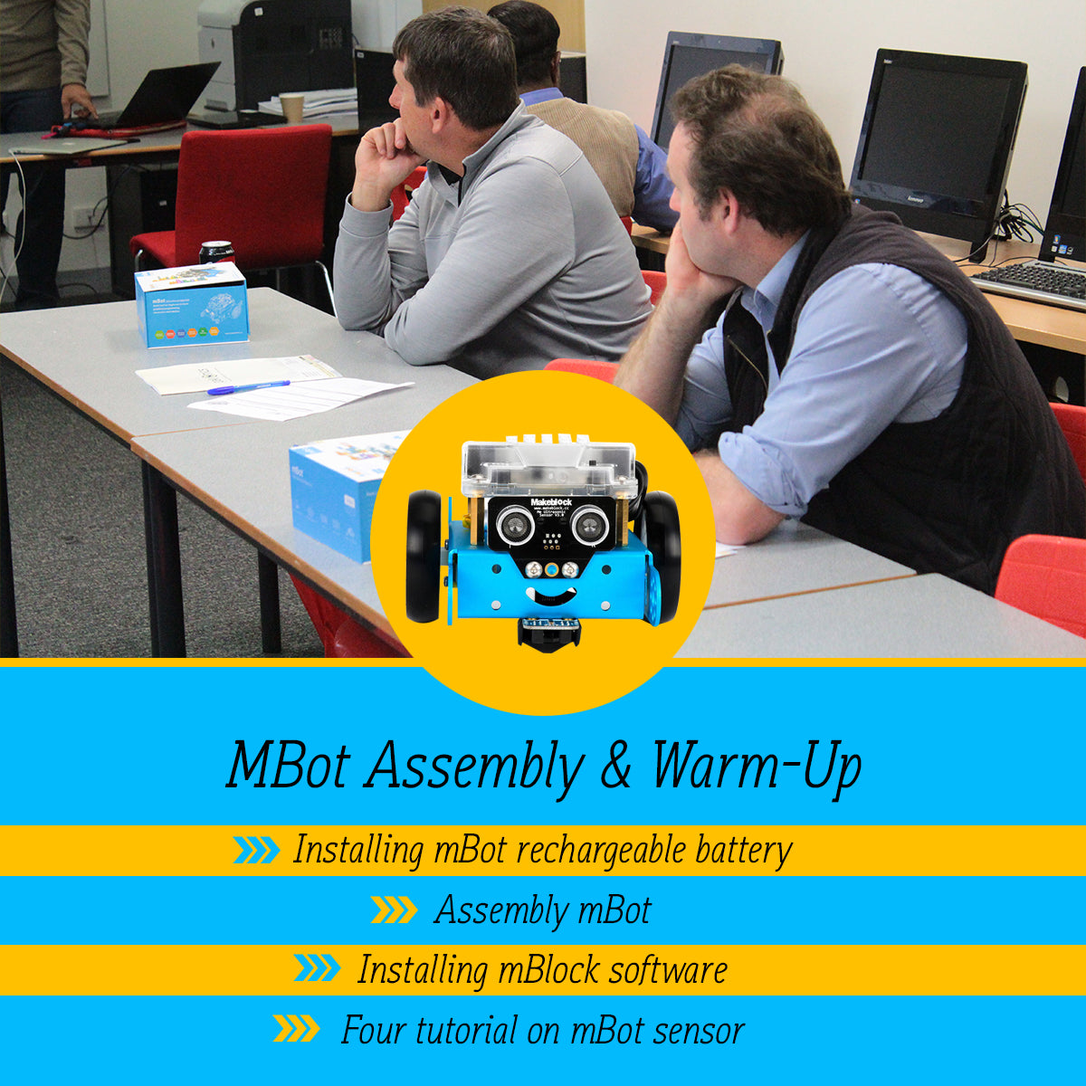 Buy FREE -mBot assembly and warm up! - An online course STEAM-0005