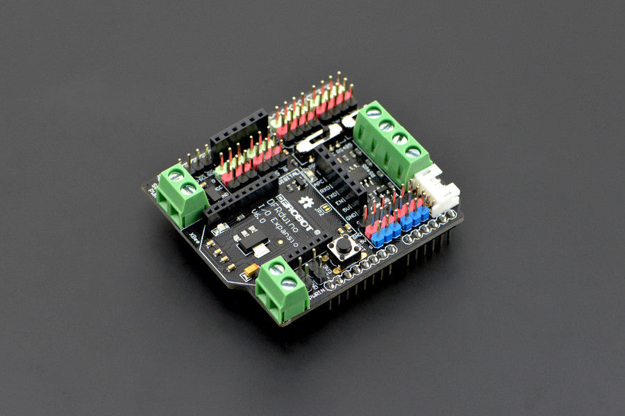 Buy Australia IO Expansion Shield for Arduino V6 , DF_DFR - DFRobot, Pakronics Melbourne  in Australia - 1