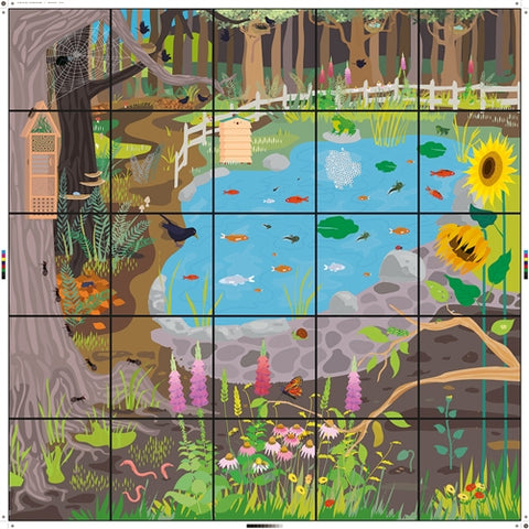 Wildlife Garden Mat for Bee Bot and Blue Bot - Buy - Pakronics®- STEM Educational kit supplier Australia- coding - robotics