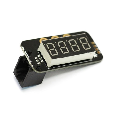 Me 7-segment serial display-Red - Buy - Pakronics®- STEM Educational kit supplier Australia- coding - robotics