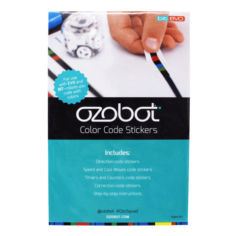 Ozobot Color Code Stickers - Buy - Pakronics®- STEM Educational kit supplier Australia- coding - robotics