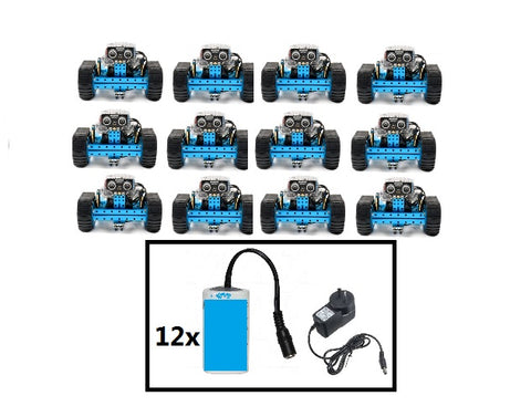 Class set of mBot ranger with rechargeable batteries (12 Pcs)