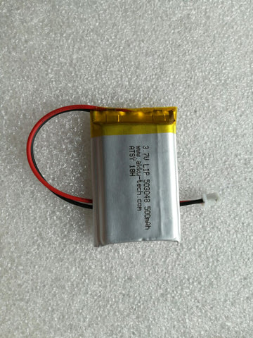Lithium Ion Polymer Battery 3.7v 500mA with JST connector