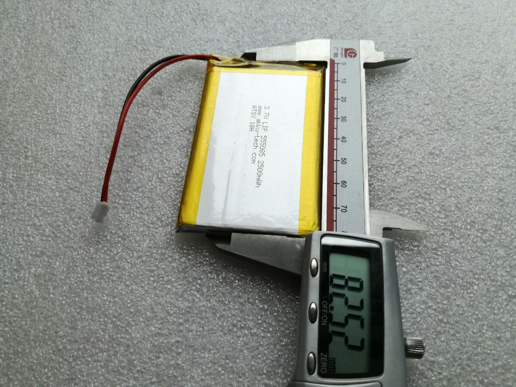 Buy Lithium Ion Polymer Battery 37v 2500ma With Jst Connector Pakr Mbot Li