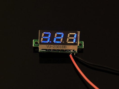 0.28 inch LED digital DC voltmeter - Blue - Buy - Pakronics®- STEM Educational kit supplier Australia- coding - robotics