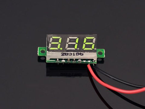0.28 inch LED digital DC voltmeter - Green - Buy - Pakronics®- STEM Educational kit supplier Australia- coding - robotics