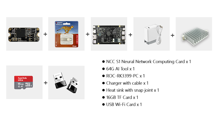 NCC S1+ ROC-RK3399-PC AI Package