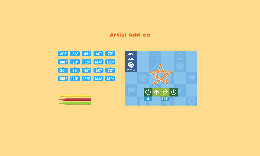 Artist Add-on for Coding set by matatalab - Buy - Pakronics®- STEM Educational kit supplier Australia- coding - robotics