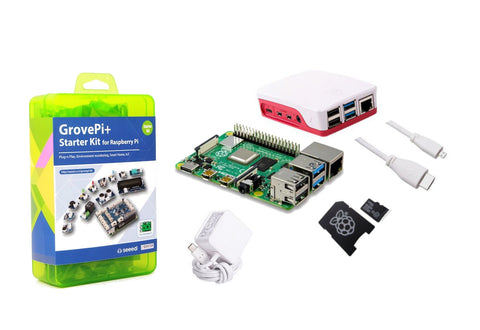 Raspberry Pi 4 Model B Starter Kit with Grove Pi+ (CE Cerified) - White - Buy - Pakronics®- STEM Educational kit supplier Australia- coding - robotics