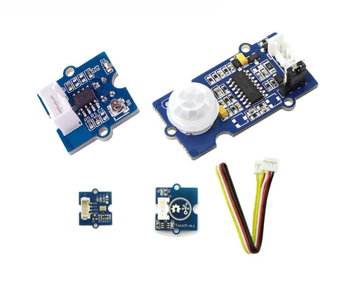 Grove sensor modules (4) kit for Microbit and Arduino - Buy - Pakronics®- STEM Educational kit supplier Australia- coding - robotics