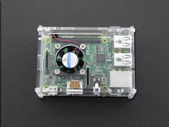 Buy Australia Raspberry Pi B+ acrylic Acrylic Enclosure w/ CPU Fan , Enclosure - Seeed Studio, Pakronics Melbourne  in Australia - 3