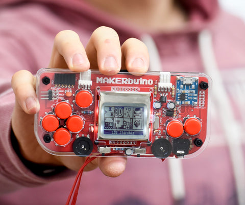Makerbuino standard kit- A DIY Gaming Console - Unassembled - Buy - Pakronics®- STEM Educational kit supplier Australia- coding - robotics